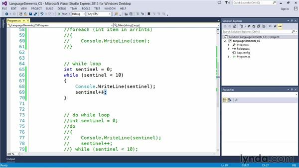 Using a while loop: Up and Running with C#