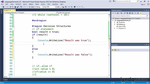 Testing conditions with if: Up and Running with C#
