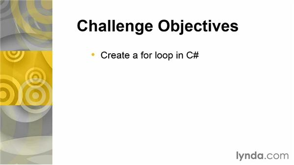 Challenge: Count to 10: Up and Running with C#