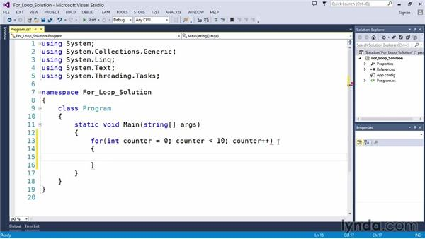Solution: Count to 10: Up and Running with C#
