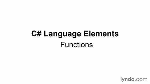 Introducing functions: Up and Running with C#