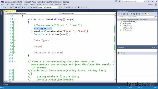 Building functions that return a value: Up and Running with C#