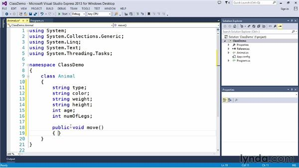 Understanding C# class files: Up and Running with C#