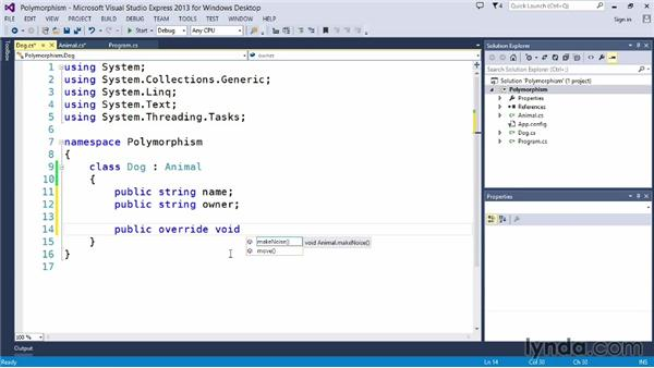 Exploring polymorphism: Up and Running with C#