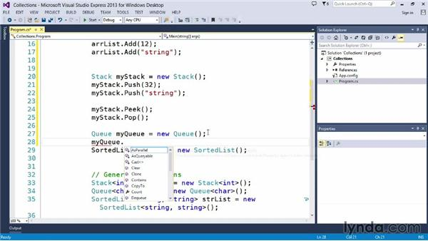 Building collections: Up and Running with C#