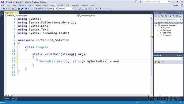 Solution: Create an object and store string values in it: Up and Running with C#