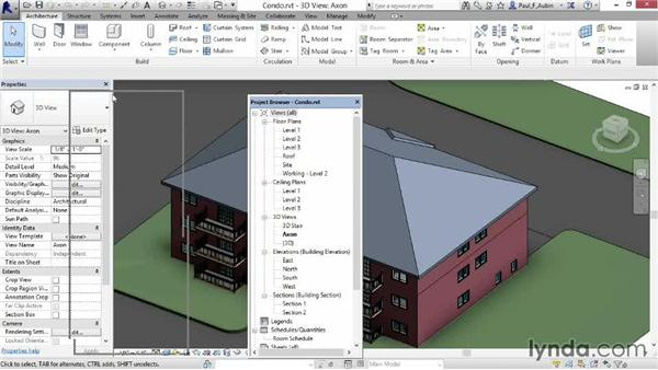 Stacking properties and project palettes: Revit Architecture 2015 Essential Training