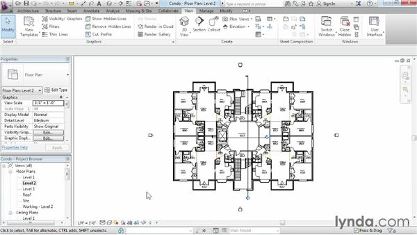 Using the Project Browser: Revit Architecture 2015 Essential Training