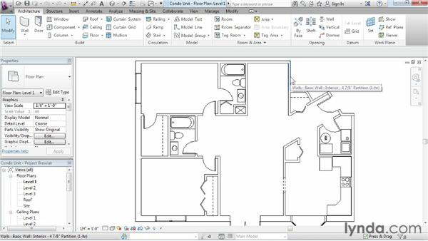 Selection and modifying basics: Revit Architecture 2015 Essential Training