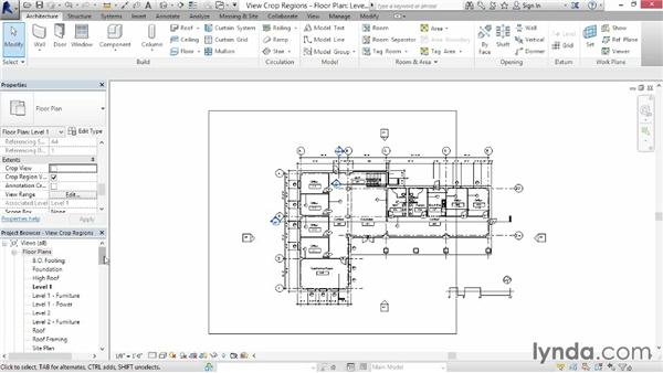 Understanding view extents and crop regions: Revit Architecture 2015 Essential Training
