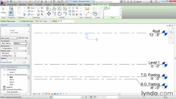 Adding levels: Revit Architecture 2015 Essential Training