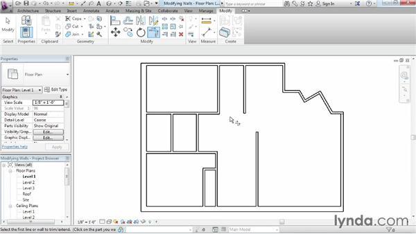 Using the modify tools: Revit Architecture 2015 Essential Training