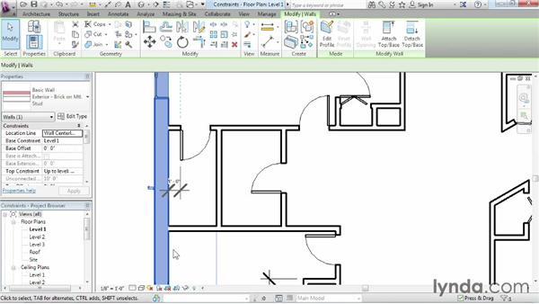 Using constraints: Revit Architecture 2015 Essential Training