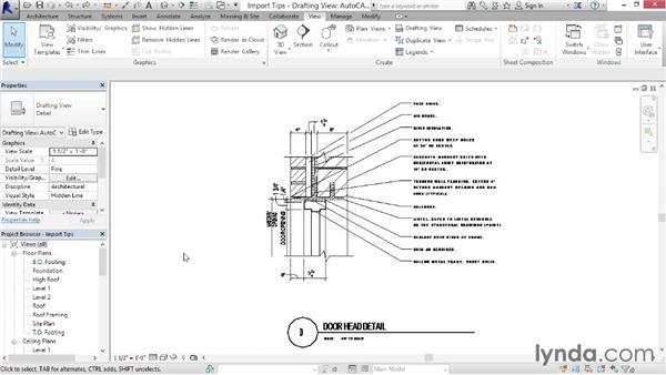 Import tips: Revit Architecture 2015 Essential Training