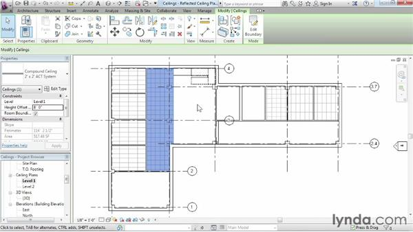 Working with ceilings: Revit Architecture 2015 Essential Training