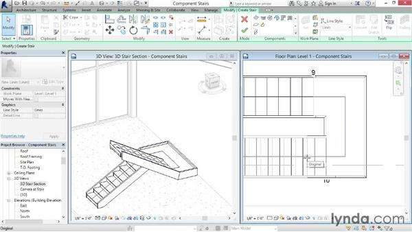 Working with component-based stairs: Revit Architecture 2015 Essential Training