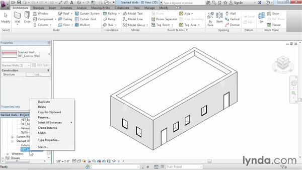 Understanding stacked walls: Revit Architecture 2015 Essential Training