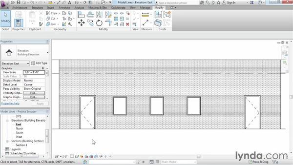 Model lines: Revit Architecture 2015 Essential Training