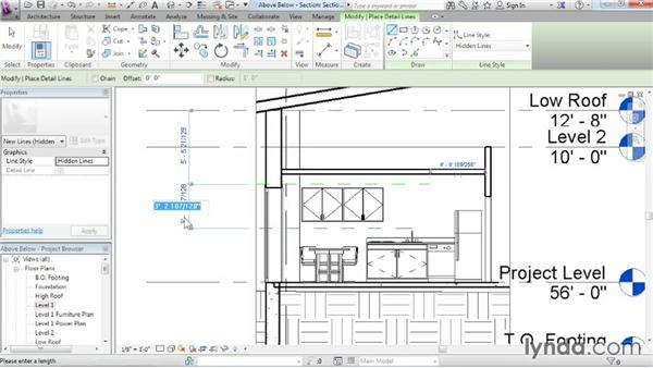 Displaying objects above and below in plan views: Revit Architecture 2015 Essential Training