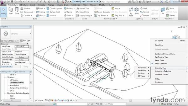 Using cutaway views: Revit Architecture 2015 Essential Training