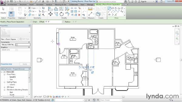 Adding rooms: Revit Architecture 2015 Essential Training