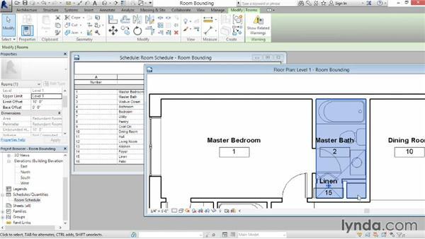 Understanding room bounding elements: Revit Architecture 2015 Essential Training