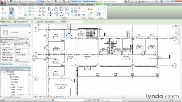 Understanding tags: Revit Architecture 2015 Essential Training