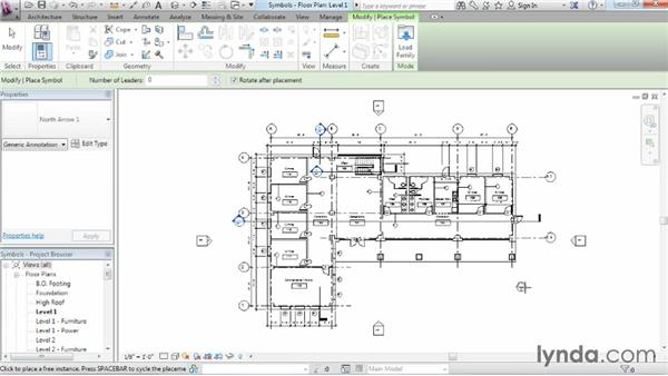 Adding symbols: Revit Architecture 2015 Essential Training