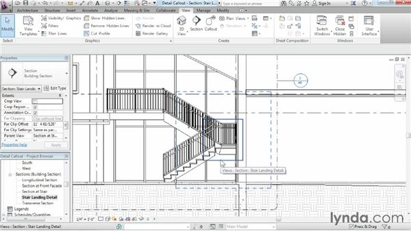 Creating a detail callout: Revit Architecture 2015 Essential Training