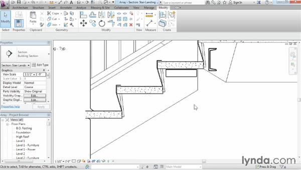 Using arrays to duplicate objects parametrically: Revit Architecture 2015 Essential Training