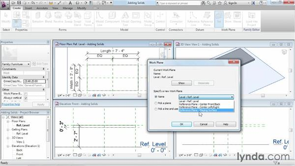 Adding solid geometry: Revit Architecture 2015 Essential Training