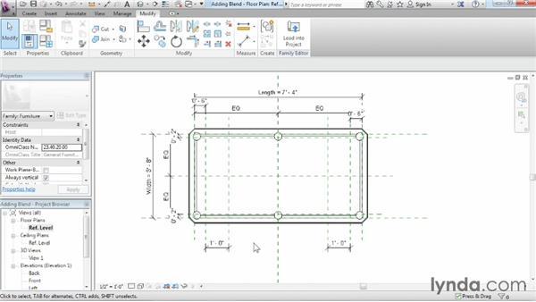 Adding blends: Revit Architecture 2015 Essential Training