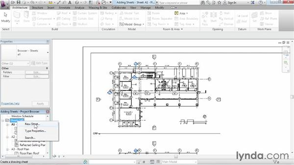 Adding sheets: Revit Architecture 2015 Essential Training