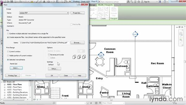 Plotting and creating a PDF: Revit Architecture 2015 Essential Training