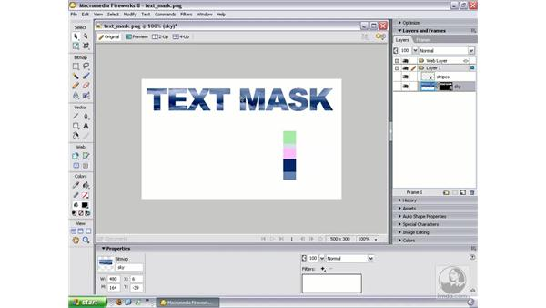 Masking with text: Fireworks 8 Essential Training