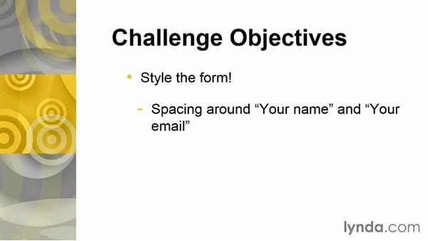 Challenge: Styling the form: Bootstrap 3: Adding Interactivity to Your Site