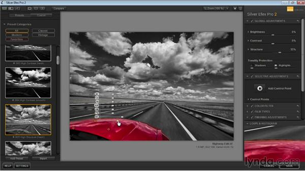 Selectively restoring color: Learning Silver Efex Pro 2