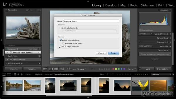 Using collections for sharing: Lightroom 5: 03 Basics of Image Sharing