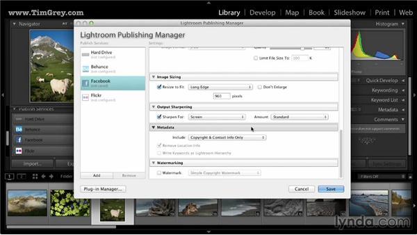 Publishing photos to Facebook: Lightroom 5: 03 Basics of Image Sharing