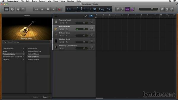 Recording the first idea: Songwriting in GarageBand