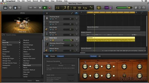 Applying effects: Songwriting in GarageBand