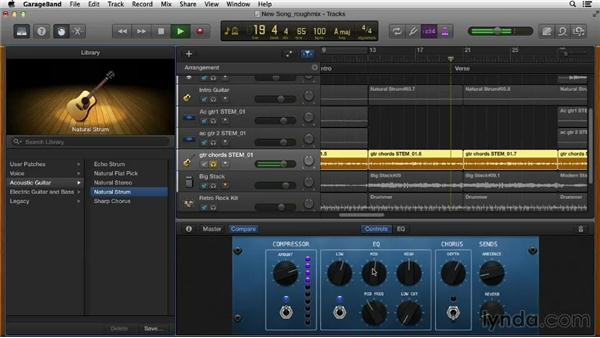 Creating a rough mix: Songwriting in GarageBand