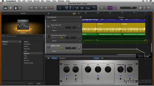 Bouncing and sharing the song: Songwriting in GarageBand