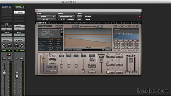 Adding convolution reverb with IR-1 reverb: Mixing Techniques with Waves Plugins