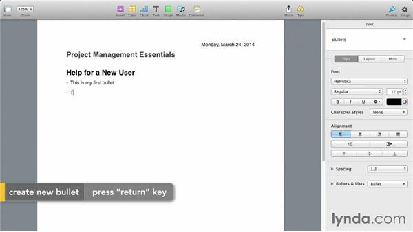 Using Apple Pages to create an outline: Keynote 6: From Outline to Presentation