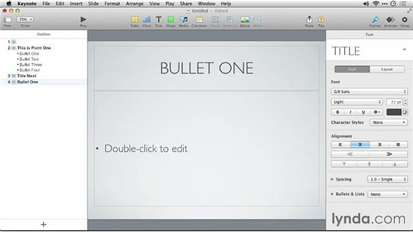 Using Apple Keynote to create or modify an outline: Keynote 6: From Outline to Presentation