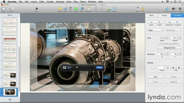 Masking a photo: Keynote 6: From Outline to Presentation