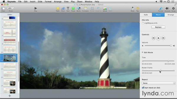 Adding a video: Keynote 6: From Outline to Presentation
