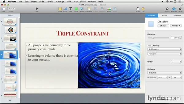 Testing your presentation: Keynote 6: From Outline to Presentation