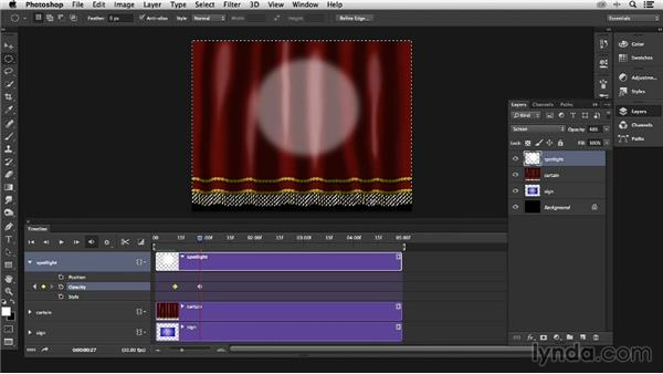 Theater curtain: Animating a rising curtain: Pixel Playground